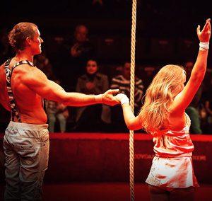 circus aerial performer Alexander Parshyn Anna Levchenko