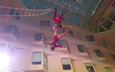 Aerial cradle end aerial rope